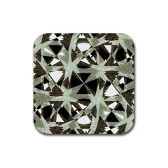 Modern Camo Print Rubber Square Coaster (4 Pack)