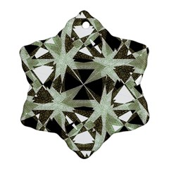 Modern Camo Print Ornament (snowflake)  by dflcprints