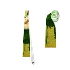 Tropical Design With Flowers And Palm Trees Neckties (one Side)