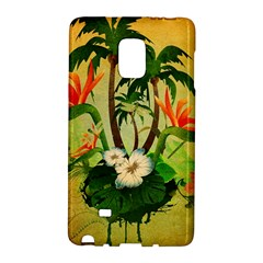 Tropical Design With Flowers And Palm Trees Galaxy Note Edge by FantasyWorld7