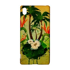 Tropical Design With Flowers And Palm Trees Sony Xperia Z3+ by FantasyWorld7
