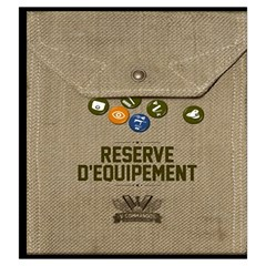 V Commando Equipement By Dehongher   Drawstring Pouch (large)   Yjll2xvscw22   Www Artscow Com Back