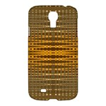 Yellow Gold Khaki Glow Pattern Samsung Galaxy S4 I9500/I9505 Hardshell Case