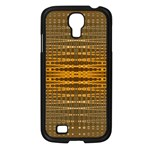 Yellow Gold Khaki Glow Pattern Samsung Galaxy S4 I9500/ I9505 Case (Black)