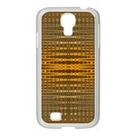 Yellow Gold Khaki Glow Pattern Samsung GALAXY S4 I9500/ I9505 Case (White)
