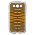 Yellow Gold Khaki Glow Pattern Samsung Galaxy Grand DUOS I9082 Case (White)