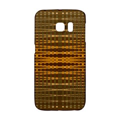 Yellow Gold Khaki Glow Pattern Galaxy S6 Edge by BrightVibesDesign