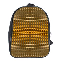 Yellow Gold Khaki Glow Pattern School Bags(large)  by BrightVibesDesign