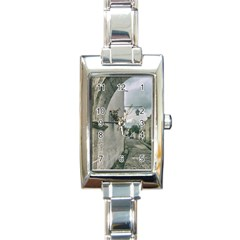 Colonial Street Of Arequipa City Peru Rectangle Italian Charm Watch by dflcprints