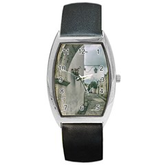Colonial Street Of Arequipa City Peru Barrel Style Metal Watch by dflcprints