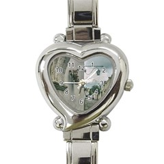 Colonial Street Of Arequipa City Peru Heart Italian Charm Watch by dflcprints