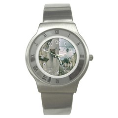 Colonial Street Of Arequipa City Peru Stainless Steel Watch by dflcprints