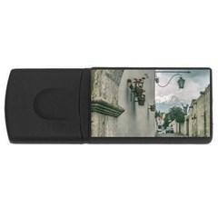 Colonial Street Of Arequipa City Peru Usb Flash Drive Rectangular (4 Gb)  by dflcprints