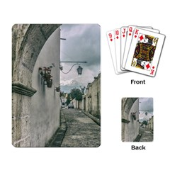 Colonial Street Of Arequipa City Peru Playing Card by dflcprints
