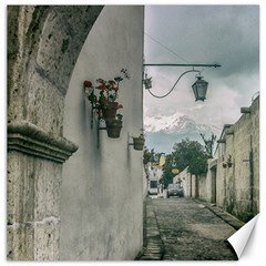 Colonial Street Of Arequipa City Peru Canvas 12  X 12   by dflcprints