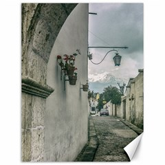 Colonial Street Of Arequipa City Peru Canvas 12  X 16   by dflcprints