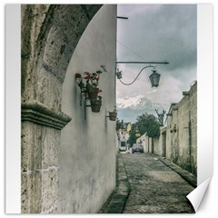 Colonial Street Of Arequipa City Peru Canvas 16  X 16   by dflcprints