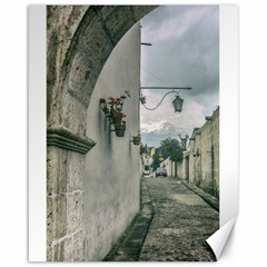 Colonial Street Of Arequipa City Peru Canvas 16  X 20   by dflcprints