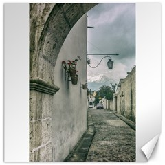Colonial Street Of Arequipa City Peru Canvas 20  X 20   by dflcprints