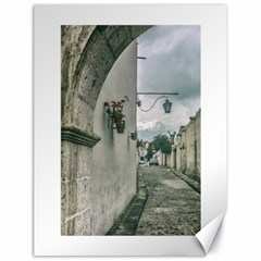 Colonial Street Of Arequipa City Peru Canvas 18  X 24   by dflcprints