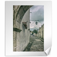 Colonial Street Of Arequipa City Peru Canvas 20  X 24   by dflcprints