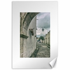 Colonial Street Of Arequipa City Peru Canvas 20  X 30   by dflcprints