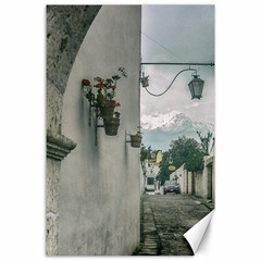 Colonial Street Of Arequipa City Peru Canvas 24  X 36  by dflcprints