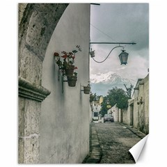 Colonial Street Of Arequipa City Peru Canvas 11  X 14   by dflcprints