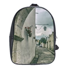 Colonial Street Of Arequipa City Peru School Bags(large)  by dflcprints