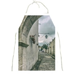 Colonial Street Of Arequipa City Peru Full Print Aprons by dflcprints