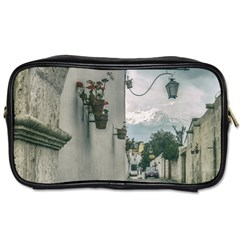 Colonial Street Of Arequipa City Peru Toiletries Bags by dflcprints