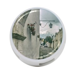 Colonial Street Of Arequipa City Peru 4 Port Usb Hub (two Sides)  by dflcprints