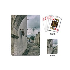 Colonial Street Of Arequipa City Peru Playing Cards (mini)  by dflcprints
