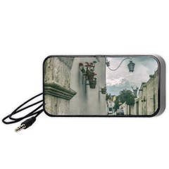 Colonial Street Of Arequipa City Peru Portable Speaker (black)  by dflcprints