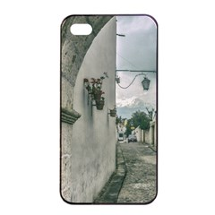 Colonial Street Of Arequipa City Peru Apple Iphone 4/4s Seamless Case (black) by dflcprints