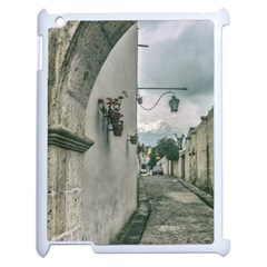 Colonial Street Of Arequipa City Peru Apple Ipad 2 Case (white) by dflcprints
