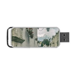 Colonial Street Of Arequipa City Peru Portable Usb Flash (one Side) by dflcprints
