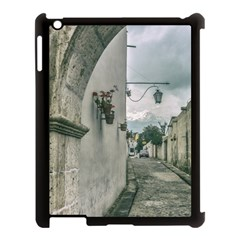 Colonial Street Of Arequipa City Peru Apple Ipad 3/4 Case (black) by dflcprints