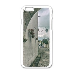 Colonial Street Of Arequipa City Peru Apple Iphone 6/6s White Enamel Case by dflcprints