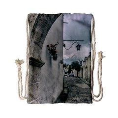 Colonial Street Of Arequipa City Peru Drawstring Bag (small) by dflcprints