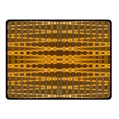 Yellow Gold Khaki Glow Pattern Fleece Blanket (small) by BrightVibesDesign