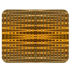 Yellow Gold Khaki Glow Pattern Double Sided Flano Blanket (medium)  by BrightVibesDesign