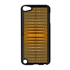 Yellow Gold Khaki Glow Pattern Apple Ipod Touch 5 Case (black) by BrightVibesDesign