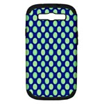 Mod Retro Green Circles On Blue Samsung Galaxy S III Hardshell Case (PC+Silicone)