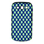 Mod Retro Green Circles On Blue Samsung Galaxy S III Classic Hardshell Case (PC+Silicone)