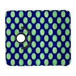 Mod Retro Green Circles On Blue Samsung Galaxy S  III Flip 360 Case