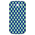 Mod Retro Green Circles On Blue Samsung Galaxy S3 S III Classic Hardshell Back Case