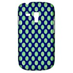 Mod Retro Green Circles On Blue Samsung Galaxy S3 MINI I8190 Hardshell Case