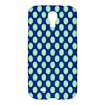 Mod Retro Green Circles On Blue Samsung Galaxy S4 I9500/I9505 Hardshell Case