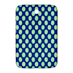 Mod Retro Green Circles On Blue Samsung Galaxy Note 8 0 N5100 Hardshell Case  by BrightVibesDesign